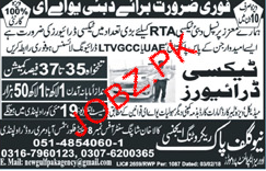 LTV Taxi Drivers Job in RTA Dubai Taxi