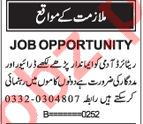Driver & Helpers Jobs 2018 in Karachi