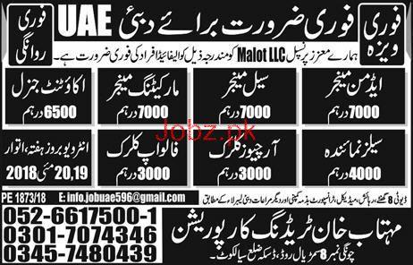 Admin Manager, Sales Manager, Sales Representatives Wanted
