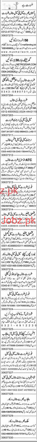 Data Entry Operators, Security Guards, Helpers Wanted