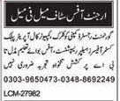 Clerk, Call Operator, Helper, Receptionist & Office Boy Jobs