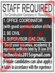 Office Coordinator, Civil Engineer & Supervisor Jobs 2018