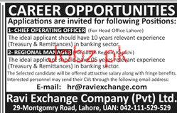 Ravi Exchange Company Private Limited Jobs