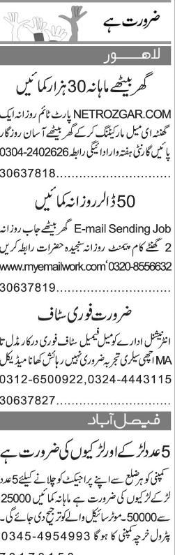 Data Entry Operators and Project Staff Job Opportunity
