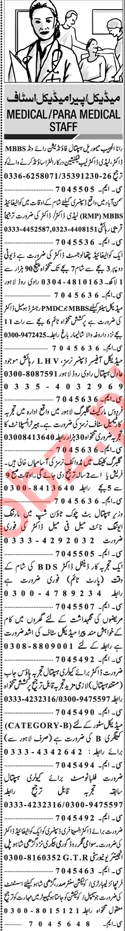 Medical & Para Medical Jobs 2018 in Lahore