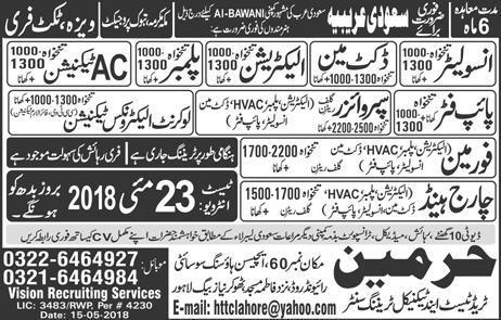 Insulators, Ductman, Electricians, Plumbers Job Opportunity
