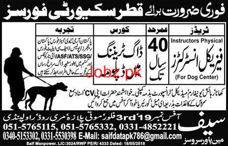 Physical Instructors  Job in Qatar Security Forces