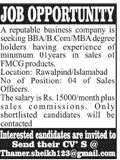 MBA / BBA / B.Com Degree Holders Job in Business Company