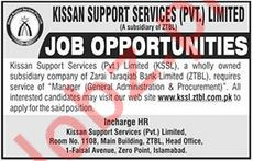 Kissan Support Services Pvt Limited KSSL Jobs 2018