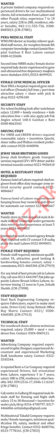 The Nation Newspaper Classified Ads 2018 in Lahore 2019 Job