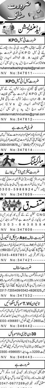 Female Key Punch Operators KPO, Marketing Staff Wanted