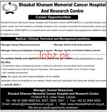 Shaukat Khanum Memorial Cancer Hospital Jobs