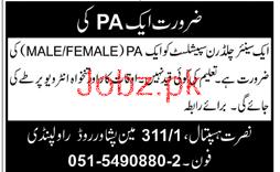Personal Assistant PA Job in Nusrat Hospital