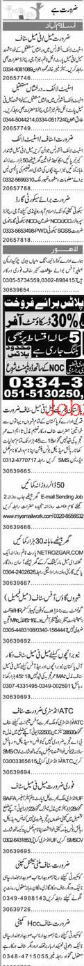 Chawkidars, Data Entry Operators, Security Guards Wanted