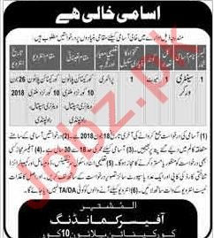 Military Veterinary Hospital Rawalpindi Jobs 2018