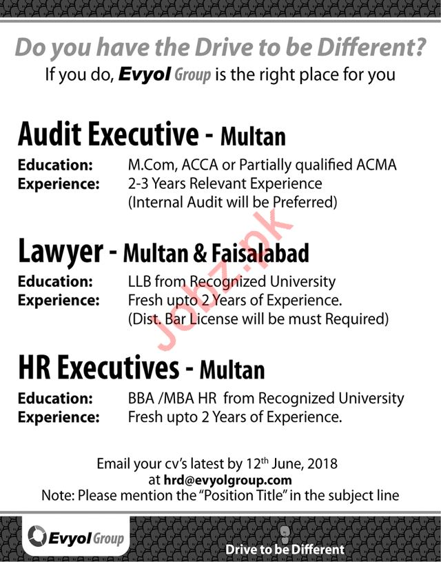 Evyol Group Job Opportunities
