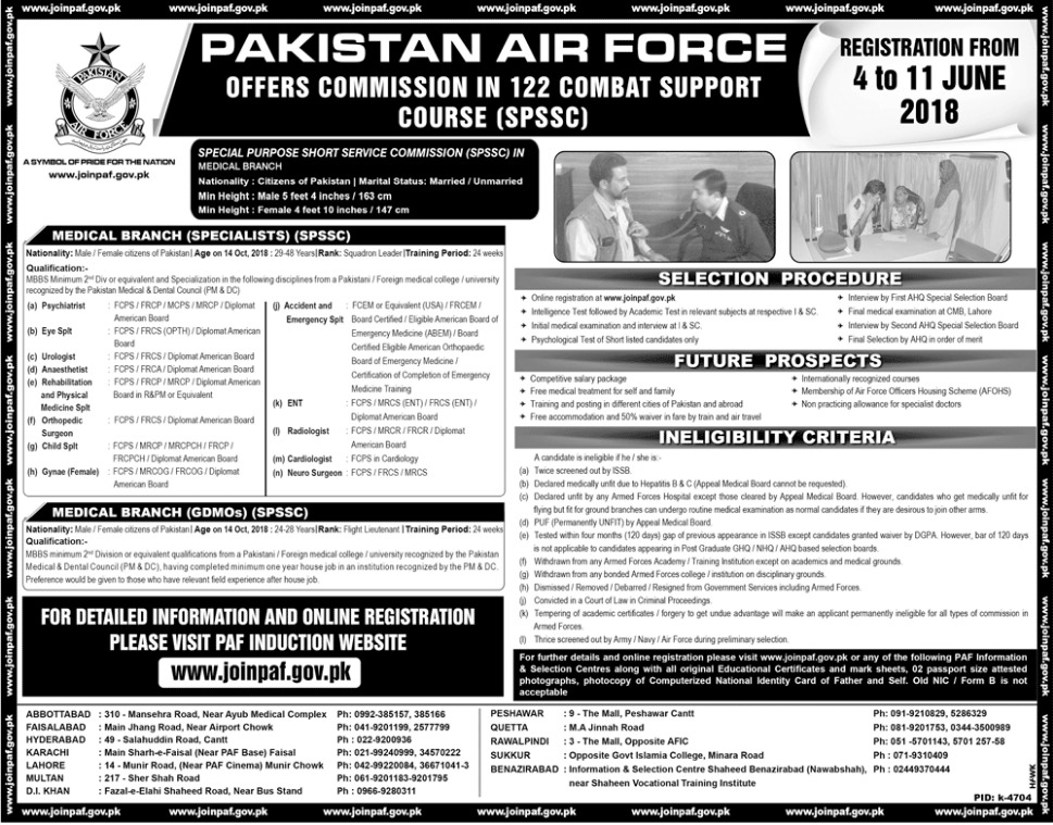 Join Pakistan Air Force PAF June 2018