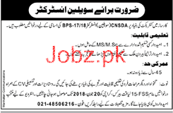 Pakistan Navy Karsaz Civilian Instructors Job