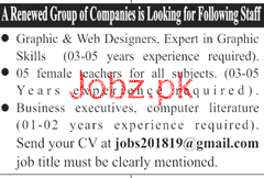 Graphic Designers, Web Designers Job Opportunity