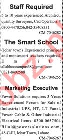 Architect, Teacher & Marketing Executive Jobs 2018