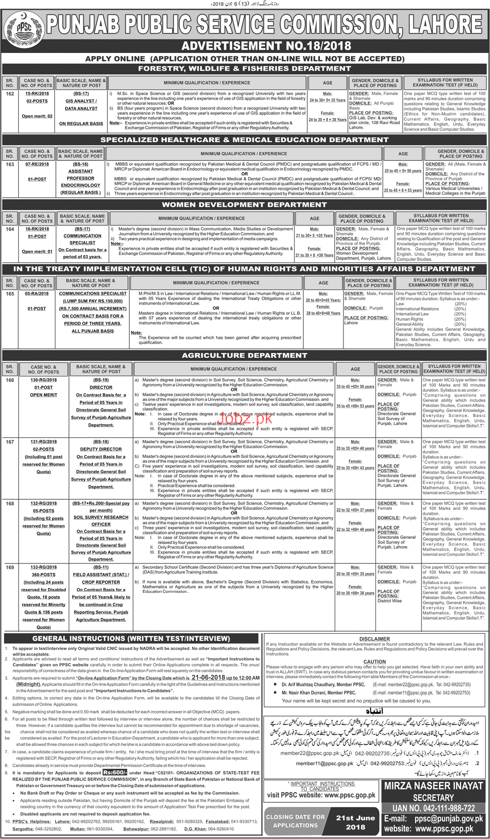 Field Assistants Job in Agriculture Department Through PPSC