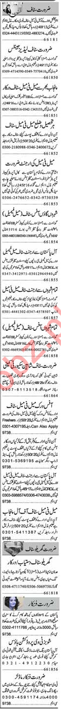 Miscellaneous Jobs 2018 In Faisalabad