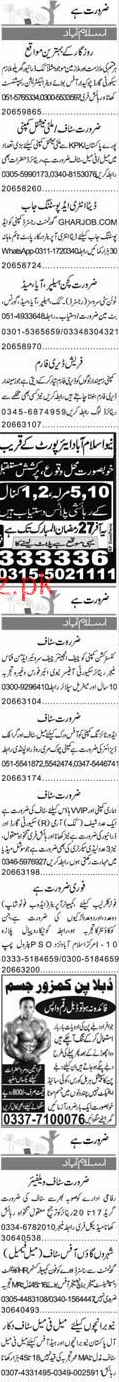 Data Entry Operators, Helpers, House Maid, Helpers Wanted