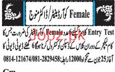 Female Coordinators Job Opportunity