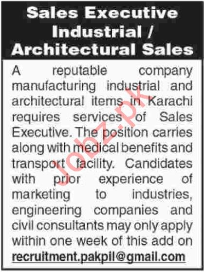 Sales Executive Industrial Jobs 2018