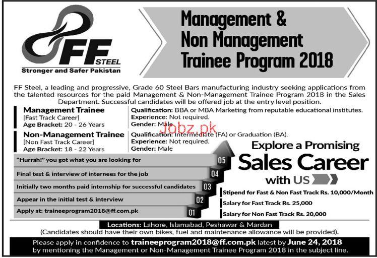 Sales Staff Job in FF Steel