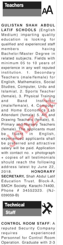 Teacher Jobs Career Opportunity in Karachi