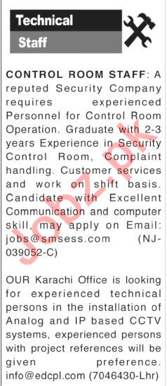 Technical Staff Jobs 2018
