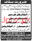 Electrical Foreman, Mechanical Foreman Job Opportunity