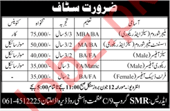 Manager Show Room, Sales Officer & Recovery Officer Jobs