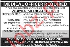 Women Medical Officer NGO Jobs 2018