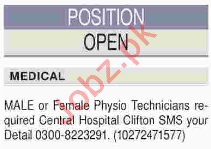 Clifton Central Hospital Karachi Jobs 2018 Physio Technician