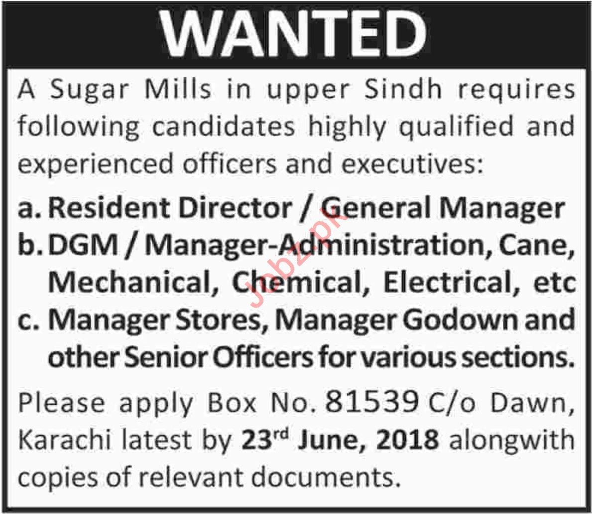 Resident Director & Manager Administration Cane Jobs 2018