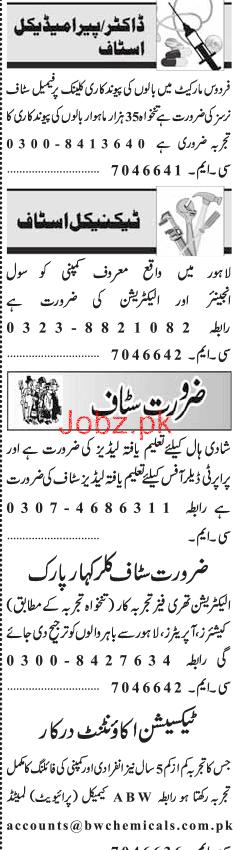 Female Staff Nurses, Civil Engineers, Electricians Wanted