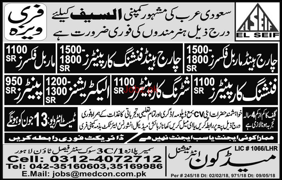 Charge Hand Marble Fixers, Charge Hand Carpenters Wanted