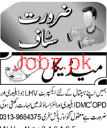 Lady Health Visitors LHV Job in A Hospital