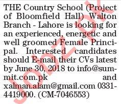 The Country School Job 2018 Principal