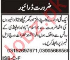 Drivers Jobs 2018 In Islamabad / Rawalpindi