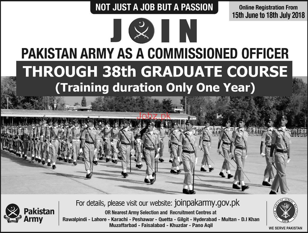 Join Pakistan Army as a Commissioned Officers