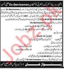 Ex Serviceman Constables Jobs 2018 in Manshera KPK