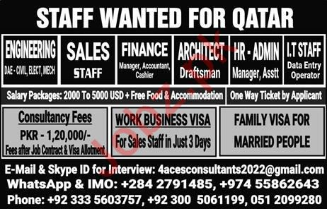 Engineer, Accountant, Managers, Architect & IT Staff Jobs