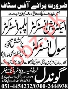 Electrician Instructor & Plumber Instructor Jobs 2018