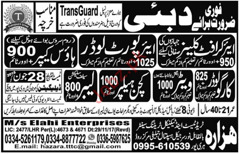 Aircraft Cleaner, Airport Loader & Cargo Loader Jobs 2018