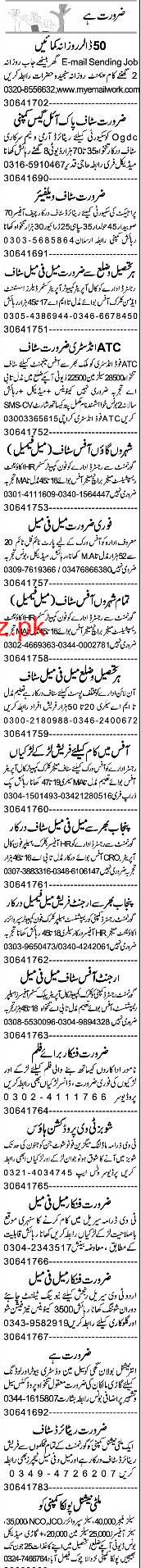 Data Entry Operators, Security Guards  Wanted