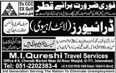 HTV / LTV Drivers  Job Opportunity