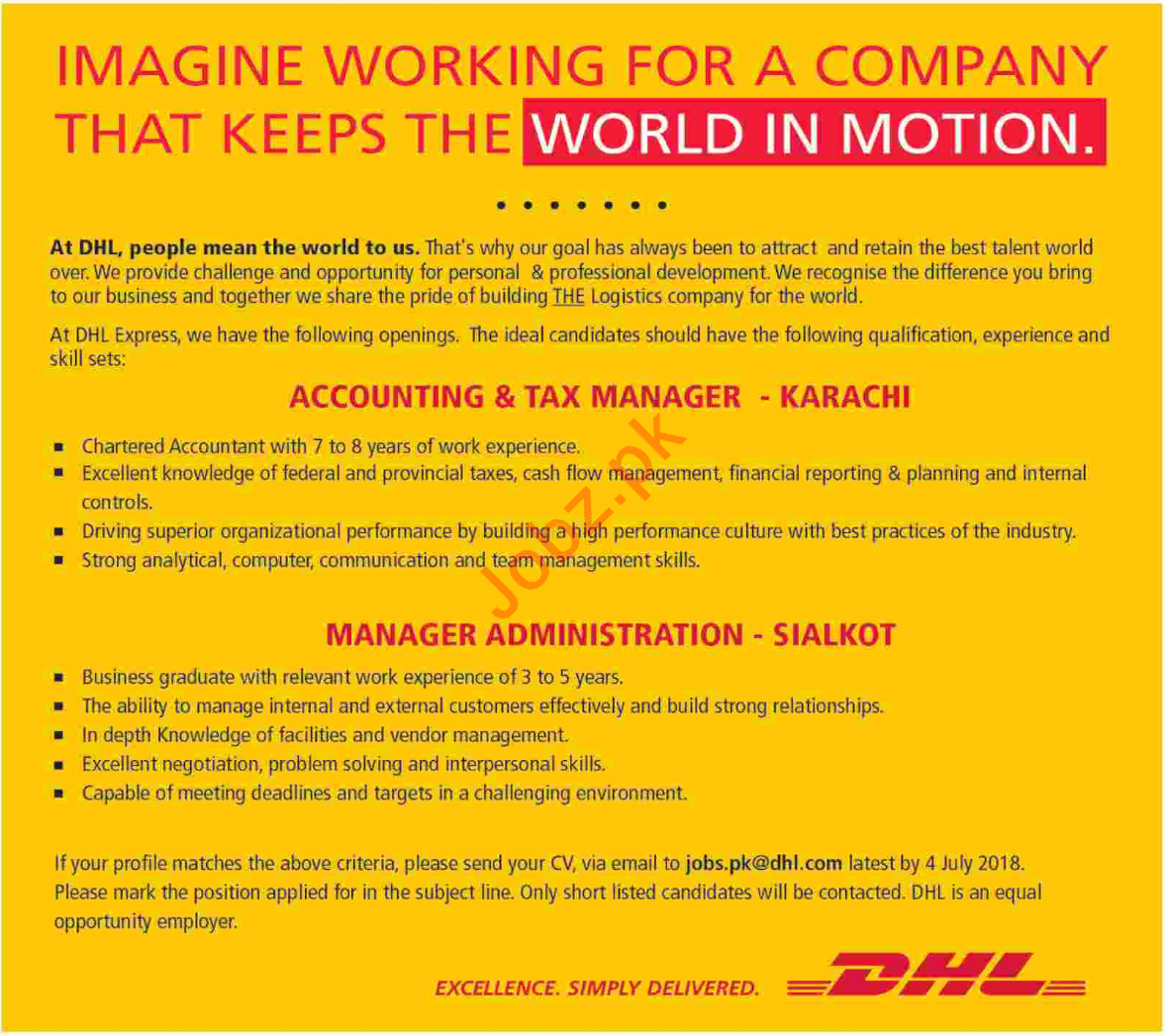 Accounting and Tax Manager at DHL